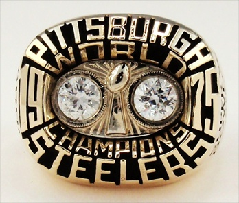 1975 Pittsburgh Steelers Super Bowl X Champions 10K Gold Ring