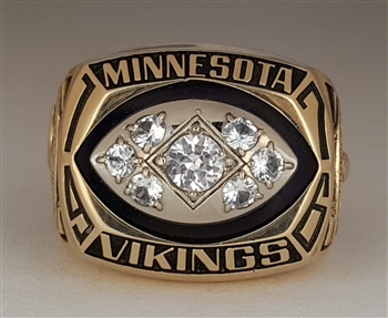 1976 Minnesota Vikings Super Bowl NFC Champions Ring