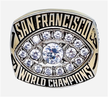 "1981 San Francisco 49ers ""Super Bowl"" XVI Champions 14K Gold-Plated Ring"