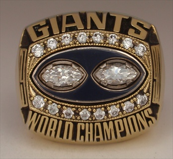 1990 New York Giants Super Bowl XXV Champions Ring