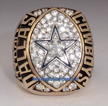 1992 Dallas Cowboys Super Bowl XXVII World Champions 10K Gold Ring! *Troy Aikman*