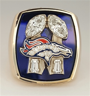 1998 Denver Broncos Super Bowl XXXIII Champions 14K GoldProto-type Ring With All Real Diamonds.