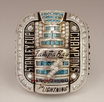 "2004 Tampa Bay Lightning ""Stanley Cup"" Champions 14K Gold Ring with all real Diamonds!"