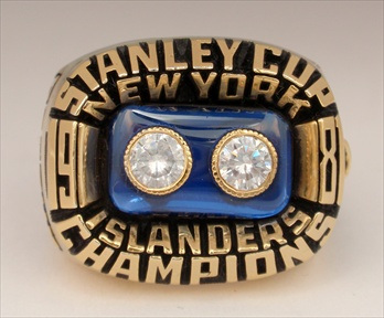 "1981 New York Islanders ""Stanley Cup"" Champions 14K Gold-Plated Ring"