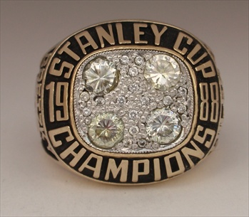 "1988 Edmonton Oilers ""Stanley Cup"" Champions 10K Gold Ring"
