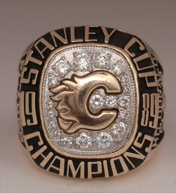 "1989 Calgary Flames ""Stanley Cup"" Champions 10K Gold Ring"