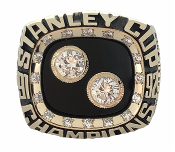 "1992 Pittsburgh Penguins ""Stanley -Cup"" Champions 10K Gold Ring"