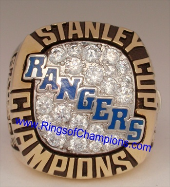 "1994 New York Rangers ""Stanley Cup"" Champions 10K Gold Ring"