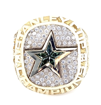 "Bob Gainey's 1998-99 Dallas Stars ""Stanley Cup"" Champions 14K Gold Ring with Diamonds!"