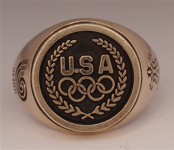 1988 Team USA Olympic Athlete 10K Gold Ring from Seoul & Calgary!