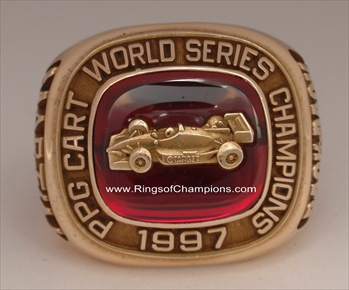 "Alex Zanardi 1997 CART ""World Series Champions"" 14K Gold INDY Car Racing Ring"