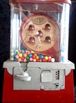 Circa 1950's Football Themed Gum Ball Machine