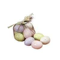 Gerson - 12, 2 Inch Artificial Speckled Easter Eggs in Pastel Colors
