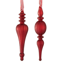 "RAZ Imports - 8 "" Finial Ornaments With Ribbon"
