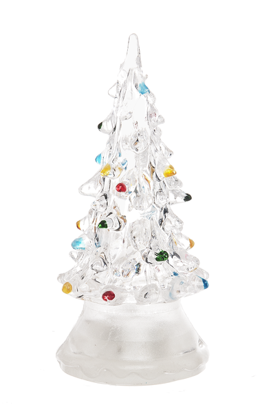 acrylic light up led tabletop christmas tree small