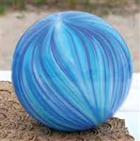 Art Glass Swirl Ball - Large