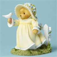 Cherished Teddies - Bear Holding Bird - 4051041