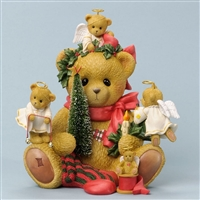 Bear Sitting with Holiday Decor