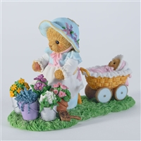 Cherished Teddies -  Bear with Flowers and Baby - CT1202