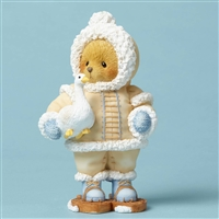 Cherished Teddies - Eskimo Kisses - Bear with Snow Goose - 4053476