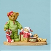 Cherished Teddies Bear with Toys and Stocking 4047382