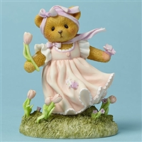 Cherished Teddies - Bear with Tulip and Butterflies