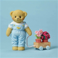 Cherished Teddies - Bear with wagon full of Flowers - 4051518
