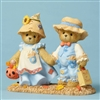 Cherished Teddies - Bears Dressed as Scarecrows - 4053446