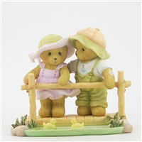 Cherished Teddies -  Bears Standing on Bridge CT1303