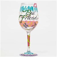 Lolita - Best Friends Always - 15 oz Wine Glass