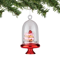 Department 56 - Cake Dome Ornament - Mrs Claus' Sweet Shoppe