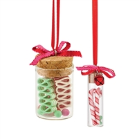 Department 56 - Candy Jar Ornaments - Set of 2 - Mrs Claus' Sweet Shoppe