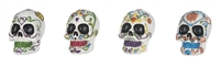 Carnival Skull / Day of the Dead Figurines - Set of 4