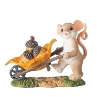 Charming Tails - Mouse with Wheelbarrow - 131644