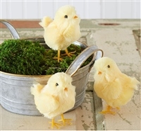 Chick Figurines - Set of 3 - Easter / Spring Decor
