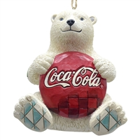 Jim Shore - Coke Polar Bear with Coke Logo Ornament