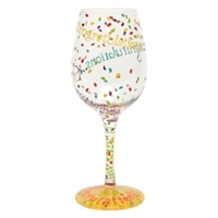 Congratulations Wine Glass