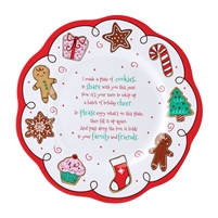 Department 56 - Cookie Giving Plate - Mrs Claus' Sweet Shoppe