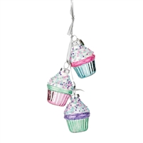 Department 56 - Cupcake Dangle Ornaments  - Mrs Claus' Sweet Shoppe