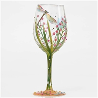 Dragonfly Party Wine Glass