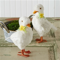 Duck Figurines - Set of 2 - Easter / Spring Decor
