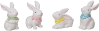 Easter Bunny Figurines - Set of 4