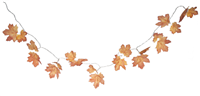 Fall Leaf LED Light Garland - 10 Lights