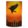 Flameless LED Flying Crow Pillar Candle