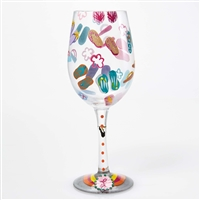 Lolita - Flip Flops Too - 15 oz Wine Glass