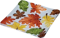 Fused Glass Fall Leaf Plate - 10.25 inch
