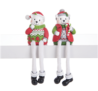 Ganz - Polar Bear Shelf Sitters - Set of 2