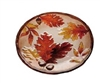 Glass Autumn Leaves Round Platter