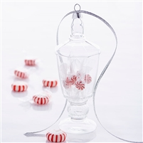 "RAZ Imports - 6"" Glass Christmas Candy Jar Ornament"