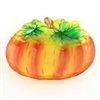 Glass Pumpkin Plate - 10 inch